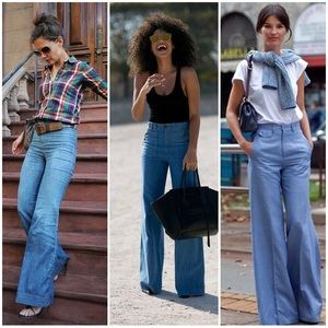Zara TRF Wide Leg Denim Jeans
